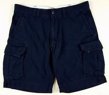 POLO Ralph LAUREN Man SHORTS Navy BLUE 39 Updated TAG Cargo POCKETS Cotton MENS*
