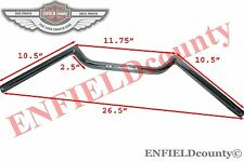 NEW 7/8'' FLAT BAR HANDLEBAR UNIVERSAL CHROME CAFE RACER MOTORCYCLES @ECspares