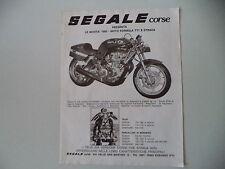 advertising Pubblicità 1980 MOTO HONDA SEGALE CORSE