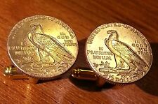 1911 U.S. Gold American Eagle $2.5 Quarter Eagle Coin Cufflinks + Gift Box!