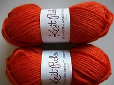 Knit Picks Wool of the Andes Superwash 100%wool yarn, Orange, lot of 2