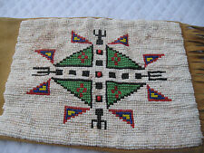"NATIVE AMERICAN INDIAN ANTIQUE LEATHER/BEADED/FRINGED 32""LENGTH TABACCO PIPE BAG"