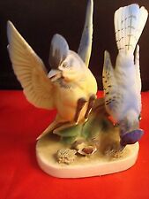Blue JAYS double Figurine, ceramic