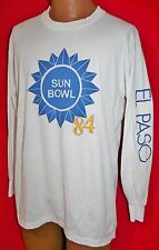 Vtg 1984 SUN BOWL El Paso Football Game 50/50 LONGSLEEVE T-SHIRT UT Vols Terps