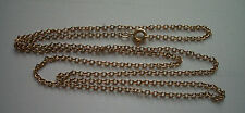 "GOLD FILLED LINK NECKLACE 22"" LONG 1/20 12K GF 2mm LONG LINKS USED 2.7g"