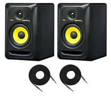 2X KRK RoKit-5 RP5G3 Active Studio Monitors 2-Way Amplified Speakers + 2X Cables
