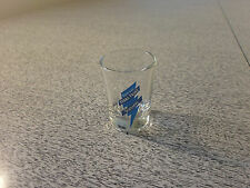Yukon Jack Shot Glass Perma Frost Schnapps Clear Blue