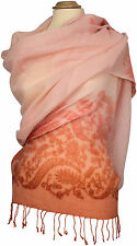 Pashmina Schal,  bestickt scarf stole embroidered Rosa Sommer Glitzer Light Pink
