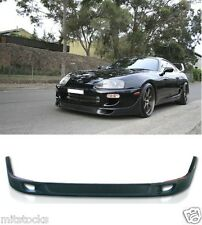 93-98 TOYOTA SUPRA TD STYLE FRONT PU BUMPER LIP SPOILER POLY URETHANE BLACK
