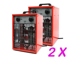 2 X 3KW 10200BTU/h Industrial Workshop Fan Heater 3000W 230V Electric Space Fire