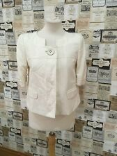 NEXT SIZE 8 CREAM SHORT SLEEVE OCCASION JACKET/BLAZER EXCELLENT CONDITION