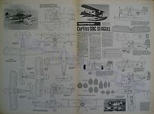 CURTIS SOC SEAGULL Warpaint 1.72 Scale Drawings Aviation News March 1976
