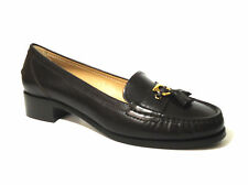 Salvatore Ferragamo Randal Loafer Pumps Dark Brown Size 11 B