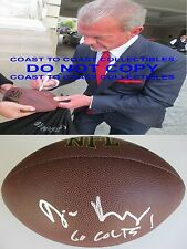 JIM IRSAY INDIANAPOLIS COLTS OWNER,SIGNED,AUTOGRAPHED,NFL FOOTBALL,COA,PROOF