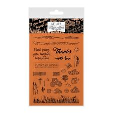 HUNKYDORY Stylish Silhouettes Clear Stamp WOODLAND WALK STAMP SET Pumpkin Spice