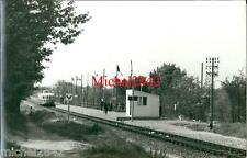 Photo argentique Automotrice autorail Micheline locomotive train chemin de fer 3