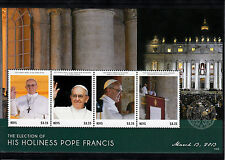 Nevis 2013 MNH Election His Holiness Pope Francis 4v M/S Popes Religion Stamps