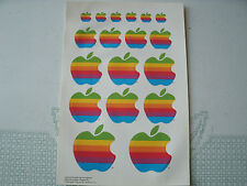 1986 VINTAGE 18  APPLE COMPUTER STICKERS PAGE/SHEET,UNUSED ORIGINAL