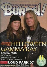 Burrn! Heavy Metal Magazine November 2007 Japan Helloween Gamma Ray Nightwish