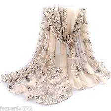 New Women Long Soft Confortable Wrap Shawl Chiffon Silk Scarf Scarves CUB