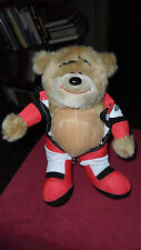 PETER UNDERHILL BAD TASTE BEARS IN RED OVERALLS PLUSH SOFT TOY FREE UK P&P