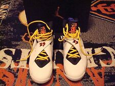 Nike Air Jordan 8 Retro Hoop Shoes, Size 10.5 (2015)--White/Red-Blk-Concord