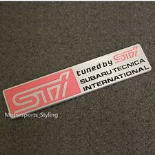 Sti badge emblème autocollant wrx wrc technica international forester impreza subaru 63