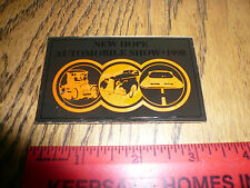 1998 New Hope Automobile Show Car Show Metal Dash Plate