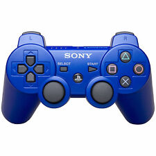 Genuine Blue Sony PS3 Wireless Gamepad Controller for PlayStation 3 Ex-Demo