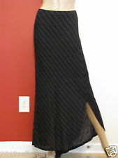 NWT JOHN PAUL RICHARD BLACK GRAY STRIPE MAXI ELASTIC WAIST CAREER SKIRT SZ XL