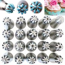 20pcs Sphere Ball Russian Flower Cake Icing Piping Nozzles Pastry Tips Baking
