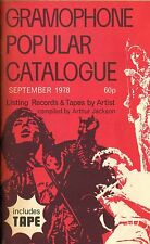 GRAMOPHONE POPULAR RECORD CATALOGUE september 1978 - 64 pages