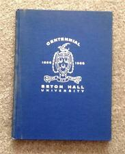 RARE 1956 1ST ED. HISTORY SETON HALL UNIVERSITY NJ VINTAGE ANTIQUE PHOTOGRAPHS