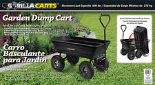 Gorilla Carts Poly Garden Dump Cart Garden Equipment Wagons Yard Wheel Barrel