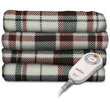 Sunbeam Allister Plaid Garnet Imperial Plush Heated Throw Blanket Electric