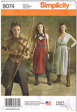 Rey Star Wars Cosplay Costume Warrior Simplicity Sewing Pattern 14 16 18 20 22