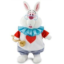 Disney Store White Rabbit Plush - Alice in Wonderland - Medium - 15''
