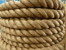"2"" Manila Rope Cut/Sold By The Foot $2.30/foot Nautical Landscape Fitness Dock"
