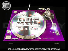 2 custom Candy Purple & Chrome Technics SL 1200 mk5's white leds powder coated
