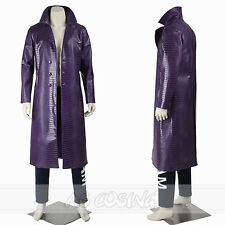 Joker Costume Trench Coat Suicide Squad cosplay Costumes Outfit