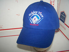 CHICAGO CUBS HAT/CAP WRIGLEY VIEW ROOFTOP - BLUE- STRAP ADJUSTABLE