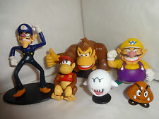 SUPER MARIO BADDIE CHARACTER FIGURES CAKE TOPPERS 6 FIGURES  BN FREE P+P