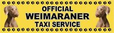 WEIMARANER OFFICIAL TAXI SERVICE Dog Car Sticker  By Starprint