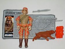 GI Joe 1988 SPARHEAD AND MAX 100% Complete with File Card