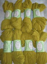 Lot of 8 Skiens of Vtg Dexter's SPORT YARN Orlon Sayelle Citrine #10983 Lot 177