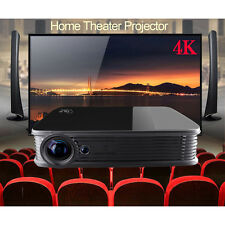 Android5.1 DLP 1080P Home Theater UHD 4K 3D Projector HDMI LED Infinite Zoom