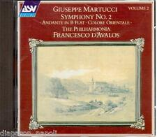 Martucci: Symphony (Sinfonia) No 2, Andante Op.69, Colore Orientale  D'Avalos CD