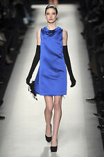 Yves Saint Laurent Couture Runway Royal Blue Bell Dress 44 NWT $1600
