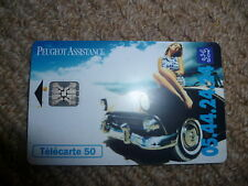Collectable Phone Card 1994 France telecom Peugot lady on car