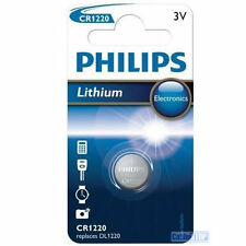 Philips CR1220 3V Lithium Button Battery Coin Cell DL1220 - EXPIRY 2020